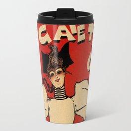 A Gaiety girl musical advertising Travel Mug