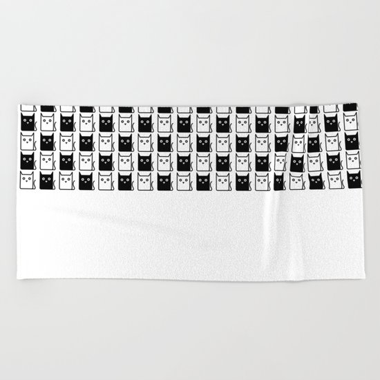 A Chess of Cats Beach Towel