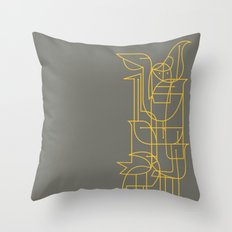 Geometric Birds Throw Pillow