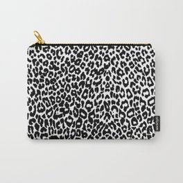 Leopard Pattern (Black and White) Carry-All Pouch