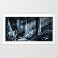 nausicaa Art Prints featuring Nausicaa by Roberto Nieto