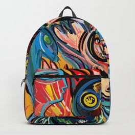 Yellow Life With Birds Street Art Backpack