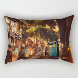 Time Traveller lost in china town Rectangular Pillow