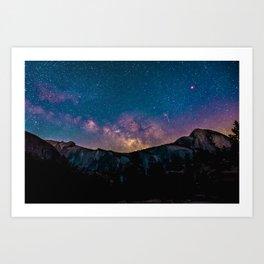 Mountain Stars Art Print
