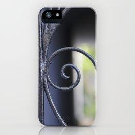 Charleston Blue Wrought Iron iPhone Case