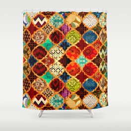 -A32- Epic Colored Traditional Moroccan Artwork. Shower Curtain
