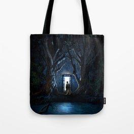 Tardis Nightmare Forest Tote Bag