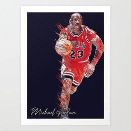 basketball player art 16 Art Print