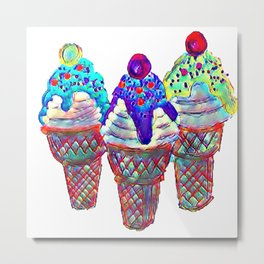 i Scream Metal Print