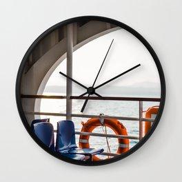 Summer Ferry views on Lago di Garda | Travel Photography Italy, Lake Garda | Fine art photo print Wall Clock