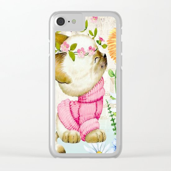 Sweet animal #1 Clear iPhone Case