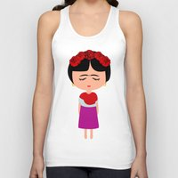 frida kahlo Tank Tops featuring Frida Kahlo by Creo tu mundo