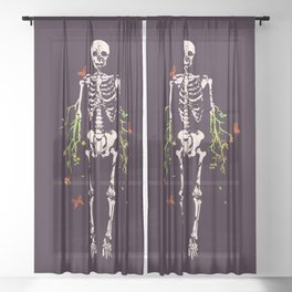 Dead is dead Sheer Curtain