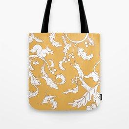 Squirrels and Acorns Pattern Tote Bag