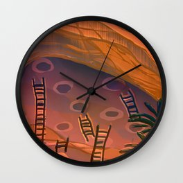 Ancestral Memories, Caves Wall Clock