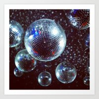 disco Art Prints featuring Disco by Elle