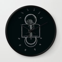 Beauty in books Wall Clock
