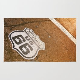 Midpoint in the historic Route 66. Rug