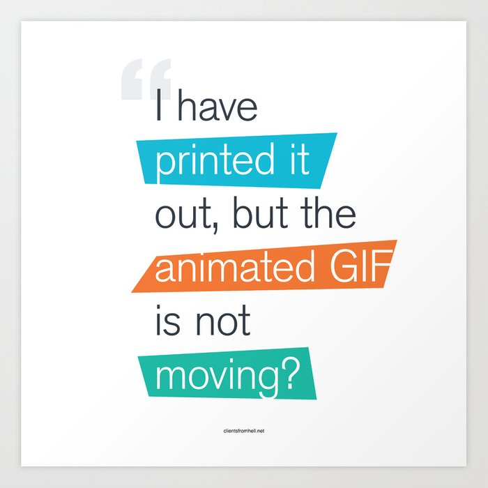 animated GIF  Art Print