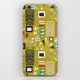 tiki yellow iPhone Skin