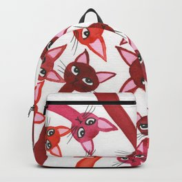 Jaluit Whimsical Cats Backpack