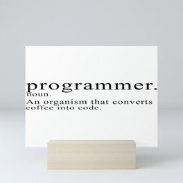 Programmer Description Mini Art Print