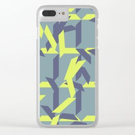trapezoids grid pattern_pigeon Clear iPhone Case
