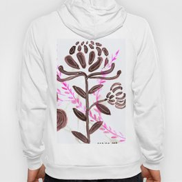 Flower Power: A Study in Pink, Black and White Hoody