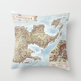 Belthennia - a map of its Independent Territories Throw Pillow