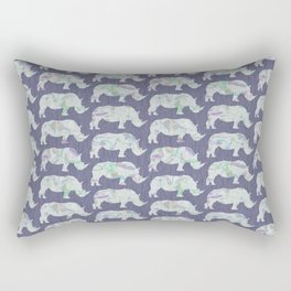 speckled rhinos Rectangular Pillow