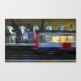 All Go At The London Underground Canvas Print