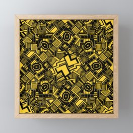 Abstract yellow and black 10 Framed Mini Art Print