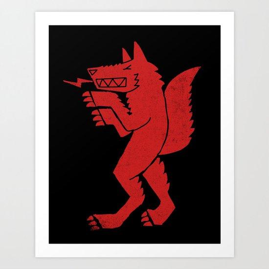 WEREWOLF, MAN WOLF Art Print