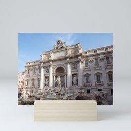 Trevi Fountain in the early morning - Rome, Italy Mini Art Print
