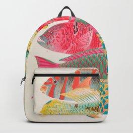 Parrot Fishes Vintage Sealife Illustration Backpack