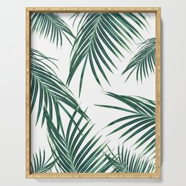 Green Palm Leaves Dream #2 #tropical #decor #art #society6 Serving Tray