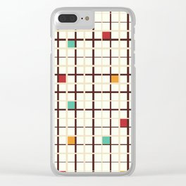 Grid pattern Clear iPhone Case
