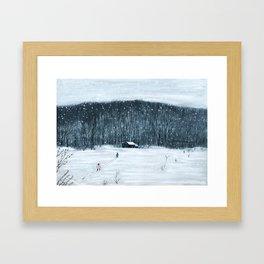 Winter trip Framed Art Print