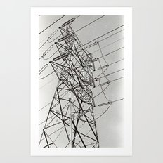 Powerlines Art Print