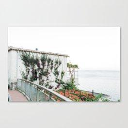 Costal Amalfi Villa Canvas Print