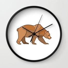 Shapely Brown Bear Wall Clock