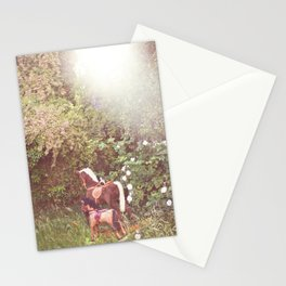 Three little rocking horses Stationery Cards