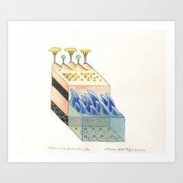 Small Seascape (kleines Seestück) Art Print