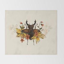 Blooming Beetle Throw Blanket
