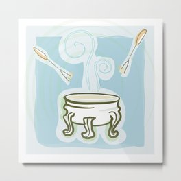 Cooking Time! Fondue Metal Print