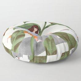 Going On A Walk Floor Pillow