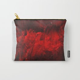 Dark Red Throw Pillow Art Print 3.0 #postmodernism #society6 #art Carry-All Pouch