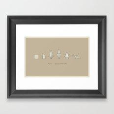 Evolution of Paper Crane Framed Art Print