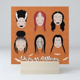 Women of Halloween- Amber Glow Mini Art Print