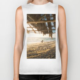 Golden Sun Srufer Guy (Color) Biker Tank